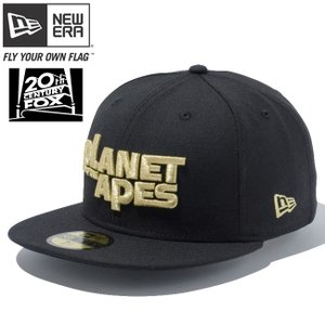 20世紀フォックス×ニューエラ 5950キャップ ゴールドロゴ 猿の惑星 ブラック Twentieth Century Fox×New Era 59FIFTY Cap Gold Logo THE PLANET OF THE APES|cio