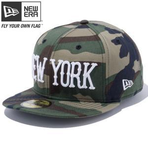 ニューエラ 5950キャップ ホワイトロゴ ニューヨーク ウッドランドカモ スノーホワイト New Era 59FIFTY Cap White Logo New York Woodland Camo Snow White|cio