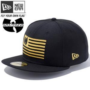 ニューエラ 5950キャップ ゴールドロゴ ウータン フラッグ ブラック コーンシルク New Era 59FIFTY Cap Gold Logo Wu-Tang Flag Black Corn Silk|cio
