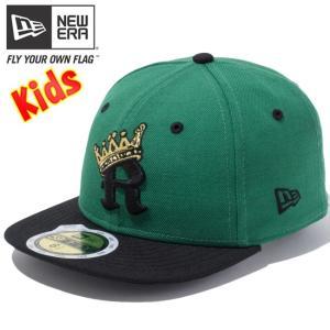 ニューエラ 5950キッズキャップ ツートーンボディ アールクラウン ケリー ブラック ゴールド New Era 59FIFTY Kids Cap 2Tone Body R Crown Kelly Black Gold|cio