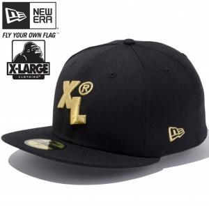 エクストララージ(R)×ニューエラ 5950キャップ ゴールドロゴ XL ブラック メタリックゴールド XLARGE(R)×New Era 59FIFTY Cap Gold Logo XL Black Gold|cio