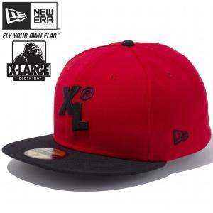 エクストララージ(R)×ニューエラ 5950キャップ ブラックロゴ XL スカーレット ブラック ブラック XLARGE(R)×New Era 59FIFTY Cap Black Logo XL Scarlet Black|cio
