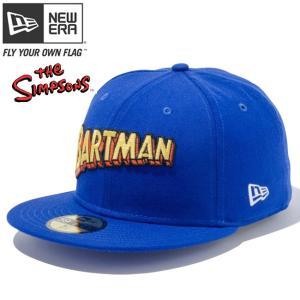ザ シンプソンズ×ニューエラ 5950キャップ マルチロゴ バートマン ブルー ブラック マニラ The Simpsons×New Era 59FIFTY Cap Multi Logo Bartman Royal cio