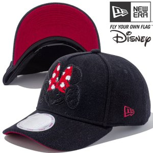 ディズニー×ニューエラ 940キャップ ゴルフ エーフレームトラッカー シェニールロゴ ブラック スカーレット Disney×New Era 9Forty Golf Chenille Logo Black|cio