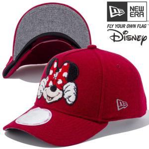 ディズニー×ニューエラ 940キャップ ゴルフ エーフレーム シェニールロゴ カーディナル ブラック Disney×New Era 9Forty Chenille Logo Cardinal Black|cio