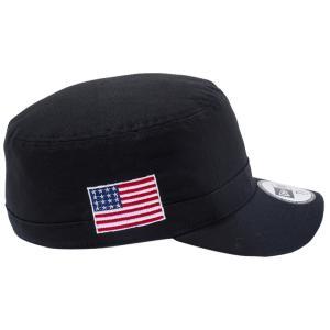 ニューエラ ワークキャップ WM01 ダック キャンバス ユーエスエー フラッグ ブラック スノーホワイト New Era Work Cap WM01 Duck Canvas USA Flag Black White cio