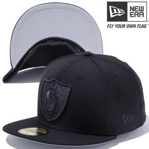 ニューエラ 5950キャップ ブラックロゴ NFLカスタム オークランド レイダース ブラック New Era 59Fifty Cap Black Logo NFL Custom Oakland Raiders Black|cio