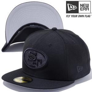 ニューエラ 5950キャップ ブラックロゴ NFLカスタム サンフランシスコ 49ERS ブラック New Era 59Fifty Cap Black Logo NFL Custom San Francisco 49ers Black|cio