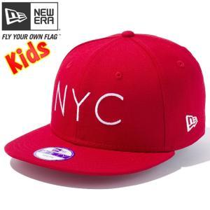 ニューエラ 950 スナップバック キッズ キャップ ニューヨークシティ スカーレット スノーホワイト New Era 9Fifty Snap Back Kids Cap New York City Scarlet|cio