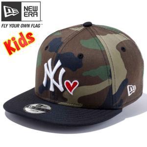 ニューエラ 950 スナップバック キッズ キャップ ハートロゴコレクション ニューヨークヤンキース ウッドランドカモ New Era 9Fifty Kids Heart N York Yankees|cio