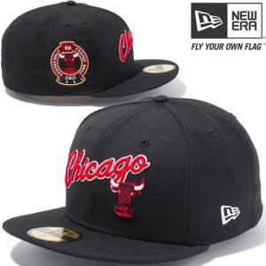 ニューエラ 5950キャップ マルチロゴ NBA シカゴブルズ スクリプト ハードウッドクラシックス チームカラー New Era 5950 NBA Chicago Bulls Script Hardwood|cio
