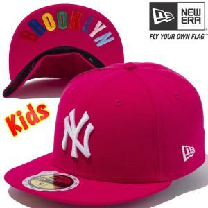 ニューエラ 5950キッズ キャップ アンダーバイザー ニューヨークヤンキース ブライトローズ スノーホワイト New Era 59FIFTY Kids Under Visor New York Yankees|cio
