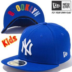 ニューエラ 5950キッズ キャップ アンダーバイザー ニューヨークヤンキース ブライトロイヤル スノーホワイト New Era 59FIFTY Kids New York Yankees Royal|cio