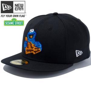 セサミストリート×ニューエラ 5950 マルチロゴ クッキーモンスター ブラック キャラクターカラーSesame Street×New Era 59FIFTY Cookie Monster Black|cio