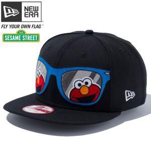 セサミストリート×ニューエラ 950 スナップバック キャップ サングラス エルモ ブラック キャラクターカラー Sesame Street×New Era 9FIFTY Snap Back Elmo|cio