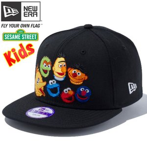 セサミストリート×ニューエラ 950 スナップバック キッズ キャップ フレンズ ブラック キャラクターカラー Sesame Street×New Era 9FIFTY Kids Cap Friends|cio