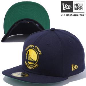ニューエラ 5950キャップ イエローロゴ NBA ゴールデンステート ウォーリアーズ ネイビー New Era 59FIFTY Cap Yellow Logo NBA Golden State Warriors Navy|cio