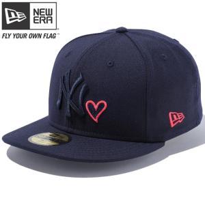 ニューエラ 5950キャップ ネイビーロゴ ハートロゴコレクション ニューヨークヤンキース ネイビー オレンジ New Era 59FIFTY Cap Navy Logo Heart Collection|cio