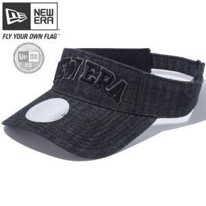 ニューエラ サンバイザー キャップ ゴルフ ヘリンボーンデニム ブラック ヘリンボーンデニム ブラック ダークグレー ブラック New Era Sunvisor Cap Golf|cio