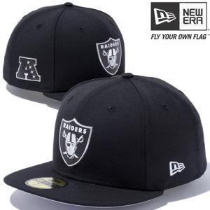 ニューエラ 5950キャップ ブラックロゴ NFLカスタム ヒートシール オークランド レイダース New Era 59Fifty Cap Black Logo NFL Heat Seal Oakland Raiders|cio