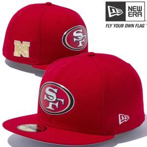 ニューエラ 5950キャップ レッドロゴ NFLカスタム ヒートシール サンフランシスコ 49ERS New Era 59Fifty Cap Red Logo NFL Heat Seal San Francisco 49ERS|cio
