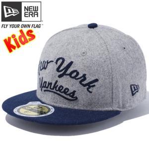 ニューエラ 5950キッズ キャップ ツートーンボディ メルトン ニューヨークヤンキース グレー New Era 59FIFTY Kids Cap 2Tone Body Melton New York Yankees|cio