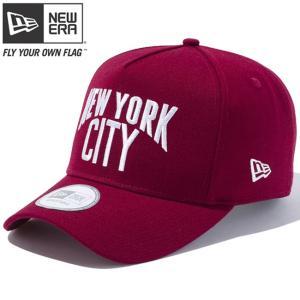 ニューエラ 940 キャップ ディーフレーム ニューヨークシティロゴ カーディナル ホワイト New Era 9FORTY Cap D-Frame New York City Logo Cardinal White|cio