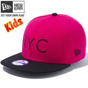 ニューエラ 950 スナップバック キッズ キャップ ニューヨークシティロゴ ブライトローズ ブラック New Era 9FIFTY Snap Back Kids Cap New York City Logo|cio