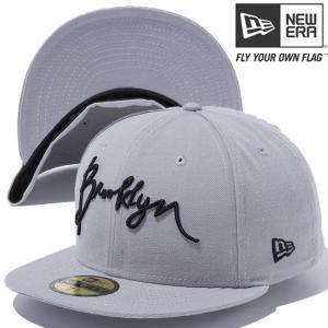 ニューエラ 5950キャップ ブラックロゴ ブルックリン スクリプト グレー グレー ブラック ブラック New Era 59FIFTY Cap Black Logo Brooklyn Script Gray Black cio