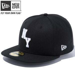 ニューエラ 5950キャップ ホワイトロゴ ニューヨーク カスタム ブラック スノーホワイト New Era 59FIFTY Cap White Logo New York Custom Black Snow White cio