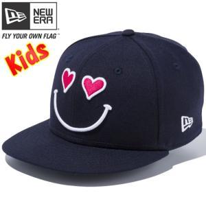 ニューエラ 950 スナップバック キッズ キャップ スマイルコレクション ハート ネイビー ホワイト New Era 9FIFTY Snap Back Kids Cap Smile Collection Heart|cio