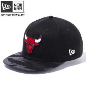 ニューエラ 950 スナップバック キャップ NBA シカゴブルズ ロゴ ブラック タイガーストライプカモブラック New Era 9FIFTY Snap Back Cap NBA Chicago Bulls|cio