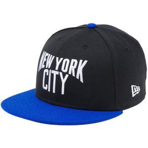 ニューエラ 950 スナップバック キッズ ニューヨークシティ ブラック ブライトロイヤル New Era 9FIFTY Snap Back Kids New York City Black Bright Royal|cio
