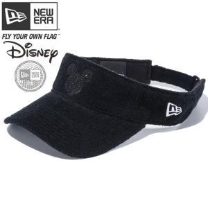 ディズニー×ニューエラ サンバイザー ゴルフ シークインド ミッキー ブラックパイル Disney×New Era Sun Visor Golf Sequined Mickey Black Pile|cio