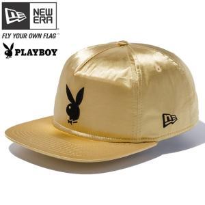 プレイボーイ×ニューエラ ザ ゴルファー スナップバック キャップ ラビットヘッドロゴ ゴールドサテン ブラック Playboy×New Era The Golfer Snap Back Cap|cio