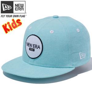ニューエラ 950 スナップバック キッズ キャップ ニューエラロゴ シャンブレーボディ ブルー ホワイト New Era 9FIFTY Snap Back Kids New Era Logo Chambray|cio