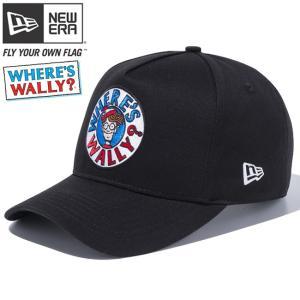 ウォーリー×ニューエラ 940 スナップバック ディーフレームトラッカー サークル ロゴ ブラック Wally×New Era 9FORTY Snap Back D-Frame Trucker Circle Logo|cio