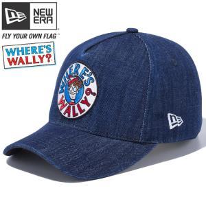 ウォーリー×ニューエラ 940 スナップバック ディーフレームトラッカー サークル ロゴ ウォッシュドデニム Wally×New Era 9FORTY D-Frame Trucker Circle Logo|cio