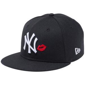 ニューエラ 950 スナップバック キッズ キャップ ニューヨークヤンキース リップ ブラック ホワイト レッド New Era 9FIFTY Kids New York Yankees Lip Black|cio