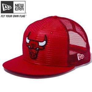 ニューエラ 950 スナップバック トラッカー メッシュ キャップ シカゴブルズ スカーレットメッシュ New Era 9FIFTY Snap Back Trucker Mesh Cap Chicago Bulls|cio