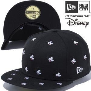 ディズニー×ニューエラ 5950キャップ オールオーバー ミッキー ブラック スノーホワイト レッド Disney×New Era 59FIFTY Cap All Over Mickey Black White cio