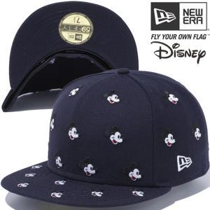 ディズニー×ニューエラ 5950キャップ オールオーバー ミッキー ネイビー スノーホワイト レッド Disney×New Era 59FIFTY Cap All Over Mickey Navy White Red cio