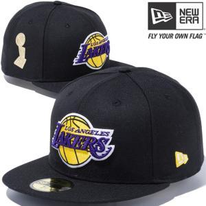 ニューエラ 5950 マルチロゴ NBA ファイナル トロフィー ロサンゼルス レイカーズ ブラック New Era 59FIFTY Multi Logo NBA Final Trophy Los Angeles Lakers|cio
