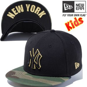 ニューエラ 950 スナップバック キッズ アンダーバイザー ニューヨーク ヤンキース ブラック New Era 9FIFTY Snap Back Kids New York Yankees Black|cio