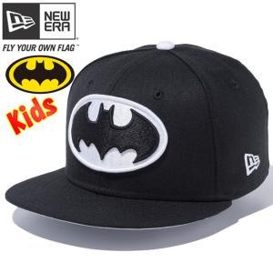 バットマン×ニューエラ 950 スナップバック キッズ バットマンロゴ ブラック FLホワイト Batman×New Era 9FIFTY Snap Back Kids Batman Logo Black White|cio