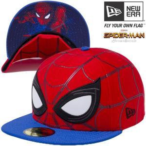 スパイダーマン×ニューエラ 5950キャップ オールオーバー フェイス スカーレット ロイヤル Spiderman×New Era 59FIFTY Cap All Over Face Scarlet Royal cio
