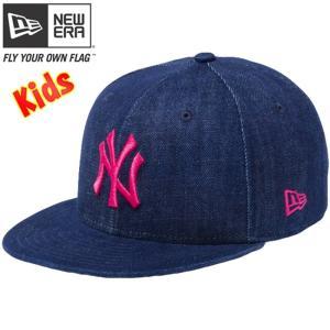 ニューエラ 950 スナップバック キッズ キャップ ニューヨーク ヤンキース インディゴデニム New Era 9FIFTY Snapback Kids Cap New York Yankees Indigo Denim|cio