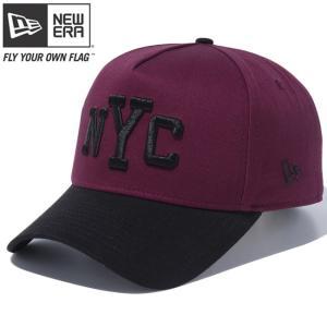 ニューエラ 940 スナップバック キャップ エーフレームトラッカー ニューヨークシティ マルーン New Era 9FORTY Snap Back Cap A-Frame Trucker New York City|cio