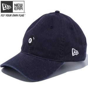ニューエラ 920 スナップバック キャップ クローズストラップ エイトボール ネイビー ブラック New Era 9TWENTY Snap Back Cap Cloth Strap 8Ball Navy Black|cio