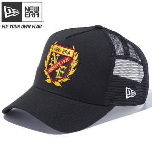 ニューエラ 940 スナップバック キャップ エーフレームトラッカー カレッジ ブラック ブラックメッシュ New Era 9FORTY Snap Back Cap A-Frame Trucker College|cio